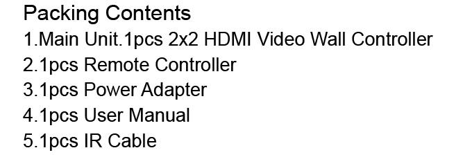 LINK-MI TV04 2x2 Video Wall Controller USB+HDMI+VGA+AV TV